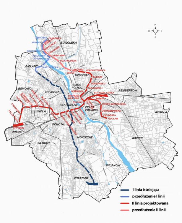 Plany rozbudowy metra metro.waw.pl /tvnwarszawa.pl