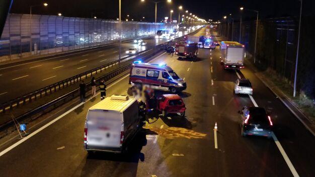 Pięcioro poszkodowanych i pięć rozbitych aut na S8