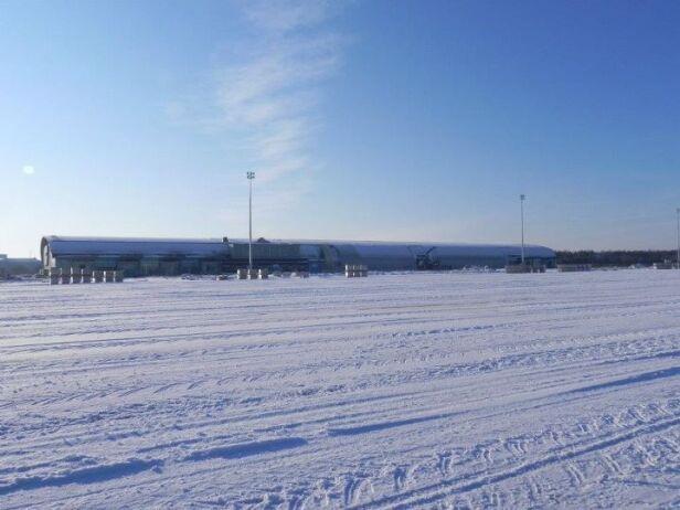 Lotnisko w Modlinie pod śniegiem na początku roku Facebook / Lotnisko Modlin