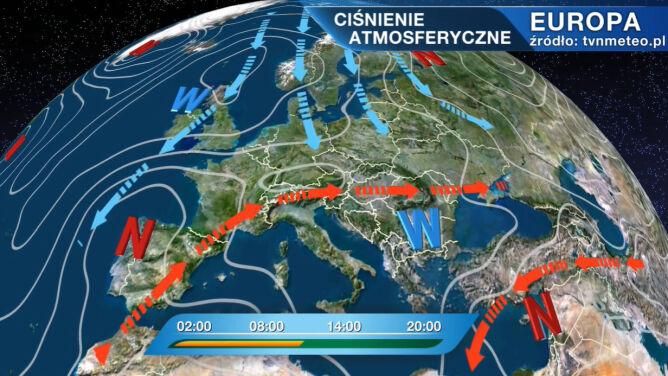 Wyż Jurgen rządzi pogodą w Polsce