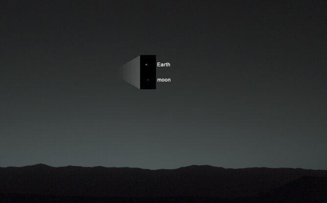 Zdjęcie Ziemi i Księżyca wykonane w 2014 roku (NASA/JPL-Caltech/MSSS/TAMU)