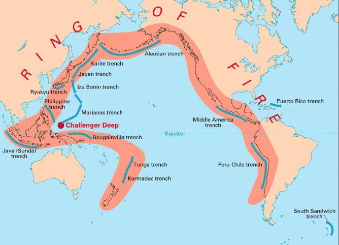 Pierścień ognia (USGS)