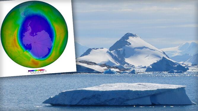 Dziura ozonowa jest coraz mniejsza. <br />Sprawdza się optymistyczny scenariusz badaczy