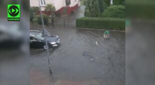 Ulice Kołobrzegu zamieniły się w potoki