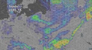 Opady deszczu w ciągu najbliższych dni (Ventusky.com) | wideo bez dźwięku