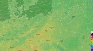 Prognozowane temperatury w najbliższych dniach (Ventusky.com)