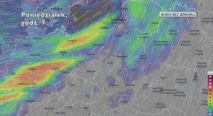 Opady deszczu w ciągu kolejnych dni (Ventusky.com)