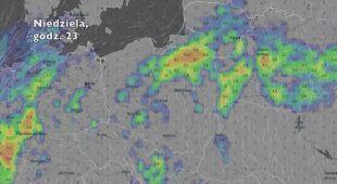 Opady deszczu w ciągu najbliższych dni (Ventusky.com)