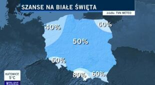 Jakie są szanse na białe święta w Polsce? (TVN24)